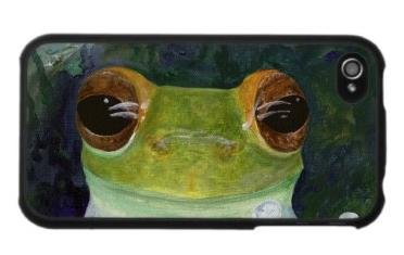 Curious Frog iPhone Case