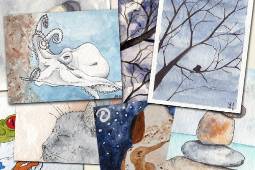 IndieGoGo Art Cards ACEO