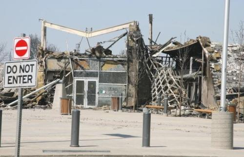 Slave Lake Library After the Fire
