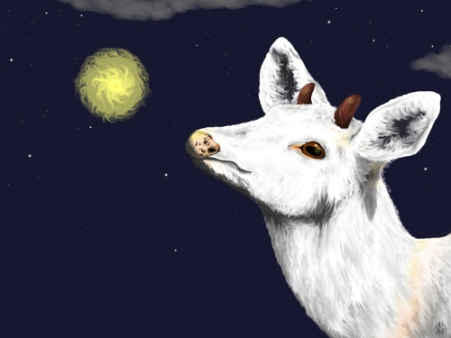 Wish Upon a Star Digital Fantasy Painting