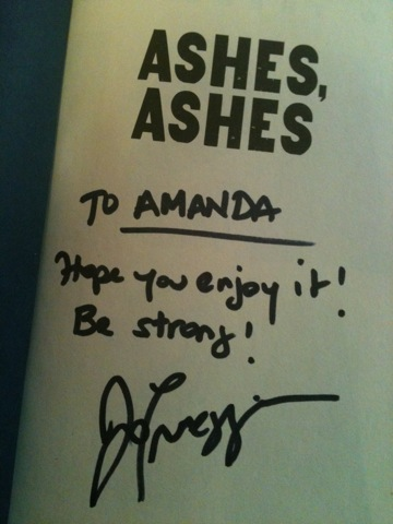 Ashes, Ashes by Jo Treggiari (autographed)
