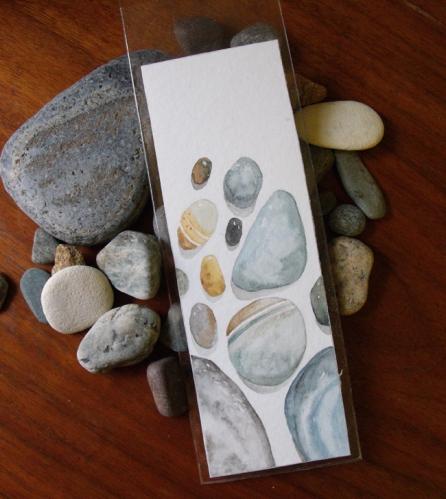 Beach Treasure Watercolor Bookmark