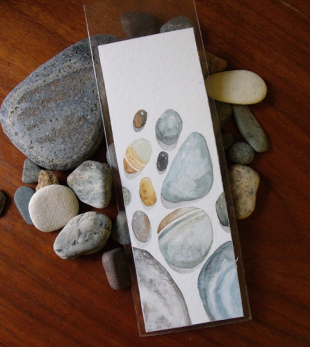 Beach Treasure Watercolor Bookmark