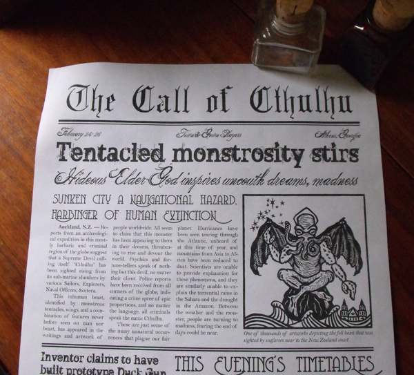 3.2 Fish you we here, Encountering the townfolks Cthulhu2